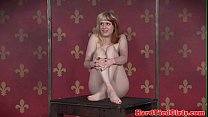 Ginger sub whipped and spanked by maledom video