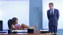 Brazzers - Cassidy Banks gets some big white cock at work video