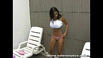andrea rincon (selena spice)- striptease in pool