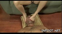 Cute beauties shows off sexy feet and slaps face hard with them