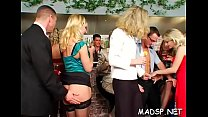 Horny lustful cuties enjoy a male treat at a sex party