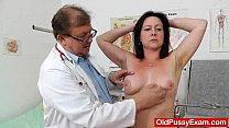Mama brunette piss hole exam Image