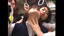 japanese lesbian schoolgirls groping on bus preview image