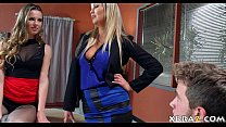 Sexy janwar - Job Interview Turns Into Anal 3Some With Teen And Stepmom thumbnail