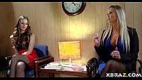 Job interview turns into anal 3some with teen and stepmom - 9Club.Top