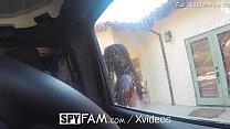 SpyFam Car wash flirtation turns into fuck with step sister Ashly Anderson