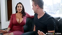Gigantic boobs MILF catches panty thief and fucks him Image