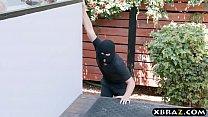 xxxn xxxx - Gigantic boobs MILF catches panty thief and fucks him thumbnail