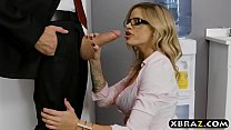 ilithyia chaturbate - Clumsy intern with big tits fucks her boss in the office thumbnail