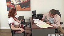 Busty Redhead Schoolgirl Pounded By Professor After Blowing His Big Cock