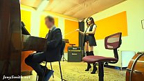 7390 Naughty Teacher with no panties prank with a real student. By Jeny Smith preview