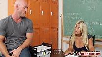 Horny Teacher Bridgette B. fucks her student at school thumbnail