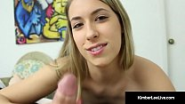 21yo All Natural Kimber Lee Sucks On Voyeur Spy's Hard Dick!