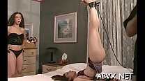 Wicked spanking and sex in non-professional bondage video