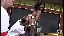 Gorgeous ebony lady sucks white dicks and gangbang fucking 14