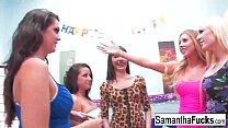 Samantha Saint celebrates her birthday with a wild crazy orgy's Thumb