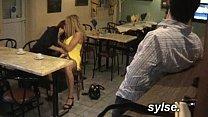 Orgy in restaurant before gangbang in office between sluts
