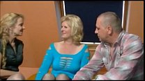 2 older german women and a guy having fun preview image