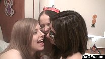 Halloween party turns in a lesbian orgy