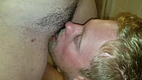 Licking her pussy while she pees preview image