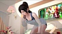Ponytail girl 3D