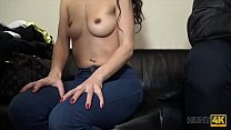 HUNT4K. Sucking cock next to her bf