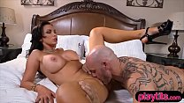 Nasty MILF with huge tits gets fucked hard from behind