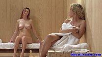 Lezdom sauna fun with redhead Karlie Montana, Hindi film bf video thumbnail