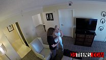 Hidden camera reveals horny girlfriend being in...