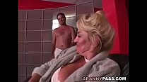 Busty Grandma is getting her pussy stuffed video
