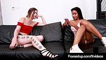Ebony Tart Jenna Foxx Stuffs Her Face With Kat Monroe's Muff