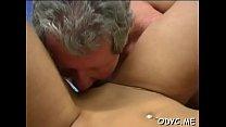 Juvenile hottie gets seduces by a much mature gentleman
