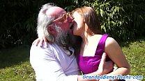 Amateur teen creampied by grandpas dick - Download mp4 XXX porn videos
