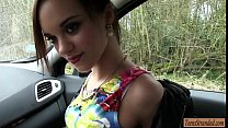Very tight teen girl hitchhikes and gets pounded in public