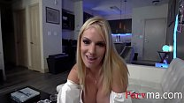 Blonde Busty MOM Helps SON with his big cock- Rachael Cavalli