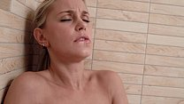 Petite blonde Lolla having fun in her shower - ...