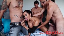 Slutty mother gangbanged by 3 strangers in her ...