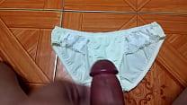 Sịp trắng tinh khôi   Cum on panties compilation the best!