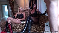 Two Kinky Chicks Have Fun With Sexual Slave