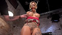 Alt blonde whipped and tormented