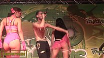 Hip hop and striptease on stage