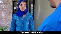 ExxxtraSmall - Hot Muslim Chick Gets Double Cum...