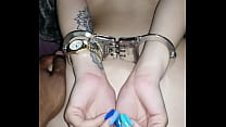 Puerto Rican 19 Handcuffed and Cumming on BBC Tattoos Bend Over Bitch