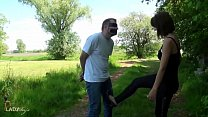 Public Ballbusting Session CBT, Cock and Ball Torture