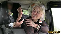Hottie blonde passenger gets missionary pussy fucked thumbnail