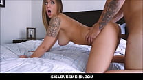 Hot Step Sister Layla London With Natural Big T... thumb