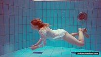Cute Melissa plays underwater Image