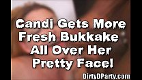 Candi Apple Comes to Play With The Tampa Bukkake Crew! thumbnail