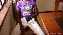 Black African Twink Kalem Jacks Off