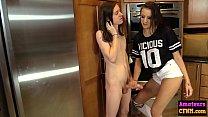 Gorgeous teen gives loser a handjob